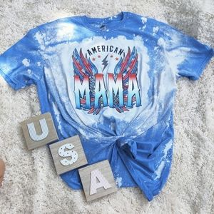 American Mama Bleach Graphic Tshirt